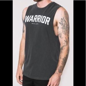 Spiritual Gangster Men's Warrior Tank vtg Black XL